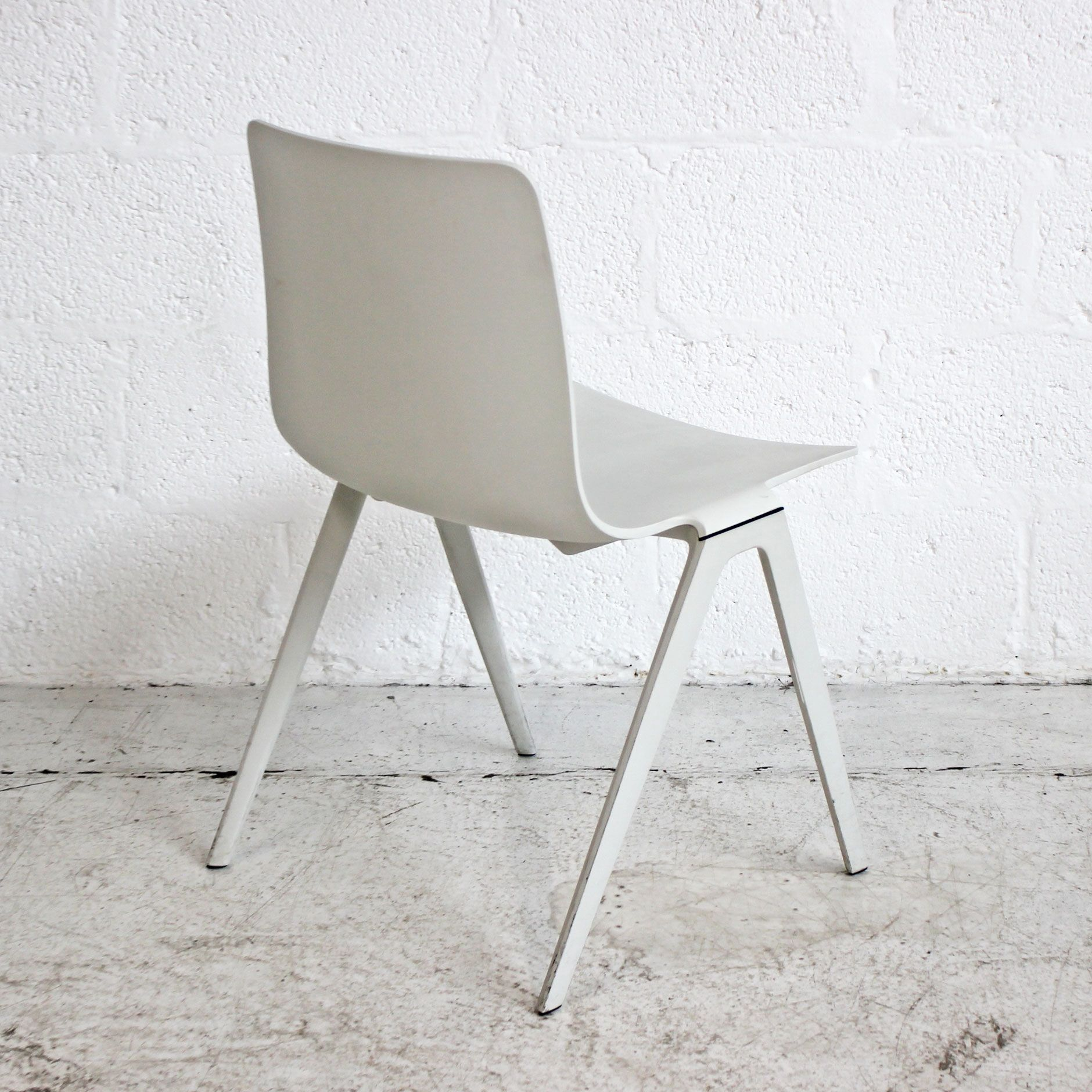 Brunner A Chair - White | White Stacking Chair | White Canteen Chairs